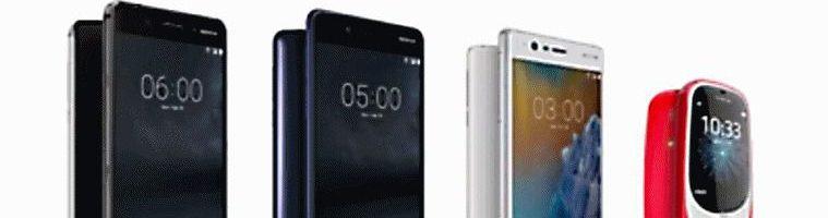 Tutti gli smartphone Nokia (ed il nuovo 3310) al MWC