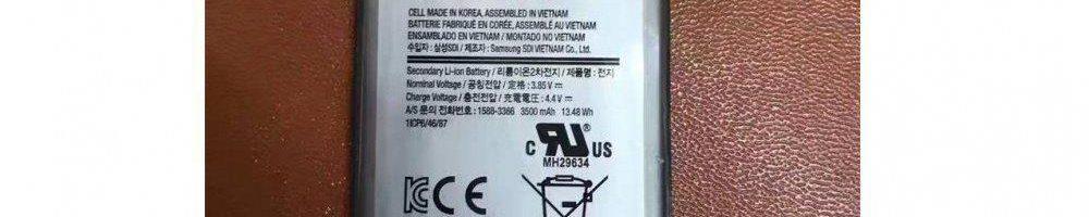 Samsung Galaxy S8 dovrebbe avere una batteria da 3500 mAh