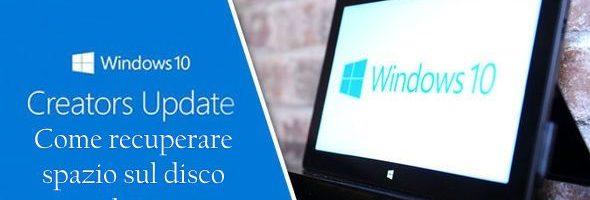 Windows 10 Creators Update: come recuperare spazio sul disco dopo l'aggiornamento