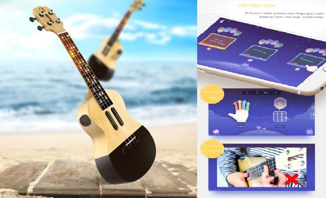 Impara a suonare l'ukulele! Su GearBest puoi acquistarne uno smart: lo Xiaomi Populele