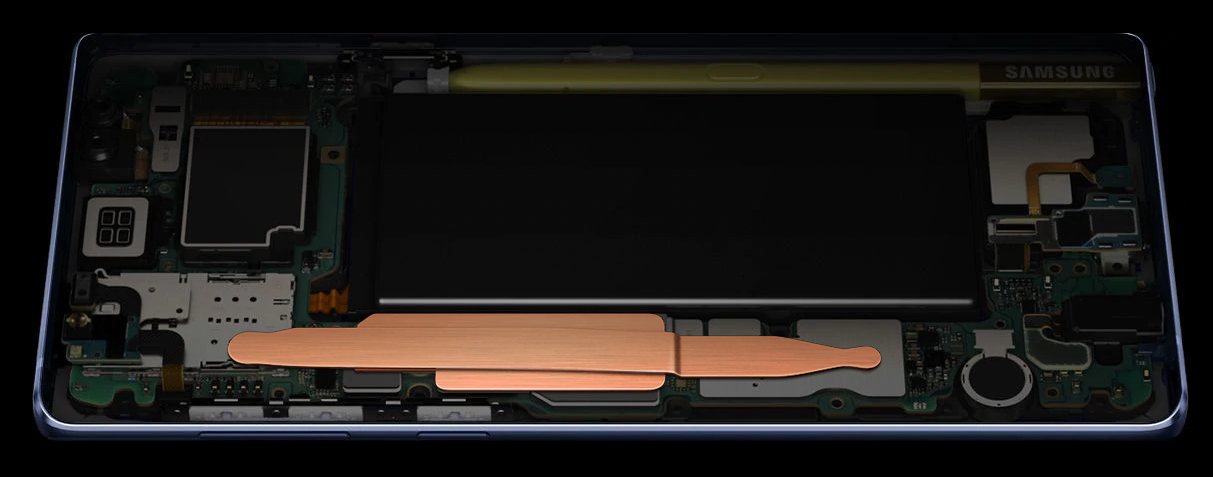 Samsung Galaxy Note 9 .