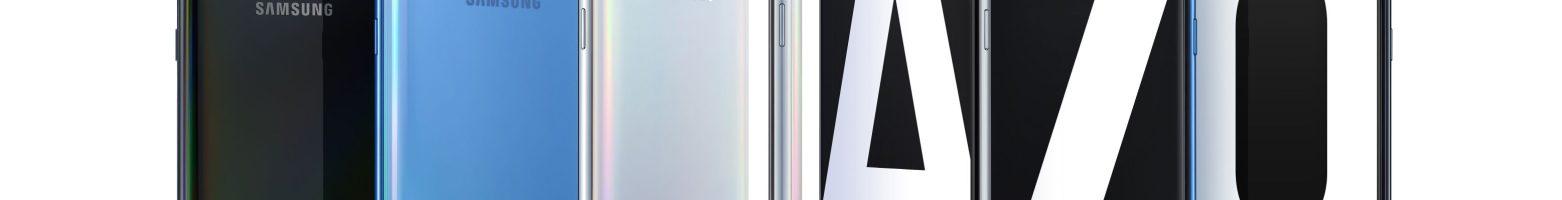 Samsung Galaxy A70 ufficiale: ampio display Infinity-U da 6.7″, lettore di impronte sotto il display e tripla fotocamera posteriore