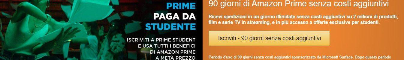 Amazon Prime Student: Prime gratis per 90 giorni e poi a metà prezzo per gli studenti universitari