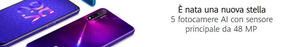 """Huawei Nova 5T ufficiale in Italia: praticamente un """"nuovo"""" Honor 20"""
