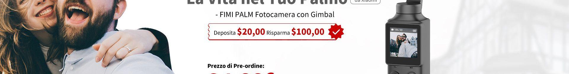 Xiaomi FIMI PALM: solo 91 euro per l'alternativa al DJI Osmo Pocket
