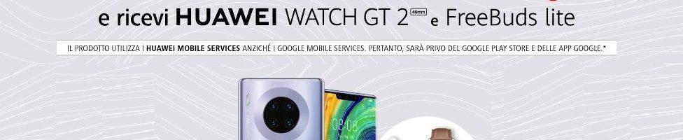 Huawei Mate30 Pro disponibile su Amazon con Watch GT 2 e FreeBuds Lite in regalo
