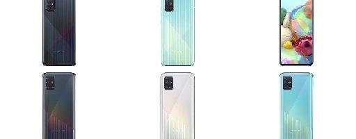 Samsung Galaxy A71 e Galaxy A51 ufficiali: Infinity-O Display, super autonomia e quadrupla fotocamera