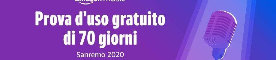 Amazon Music Unlimited gratis per 70 giorni con la promozione Amazon per Sanremo