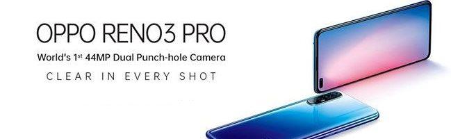 Oppo Reno3 Pro ufficiale: quadrupla fotocamera posteriore da 64 MP, doppia fotocamera frontale da 44 MP e non solo