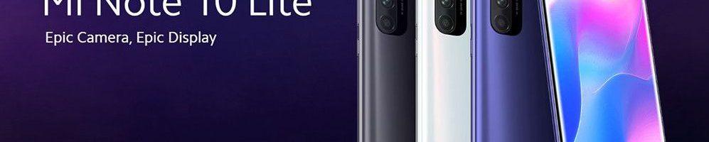 Xiaomi Mi Note 10 Lite disponibile ufficialmente in Italia