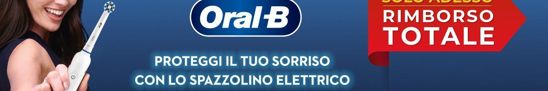 Oral-B: uno spazzolino elettrico gratis con rimborso totale