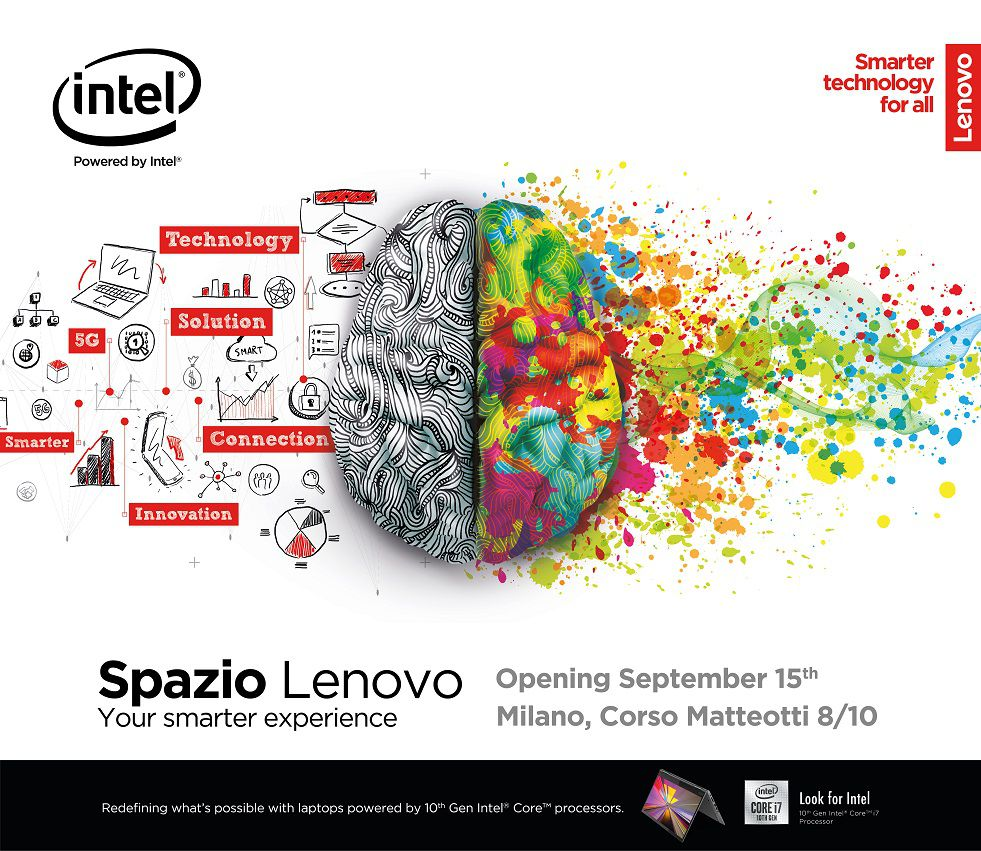 Spazio Lenovo il primo concept store di Lenovo in Europa apre a Milano con un evento out of home