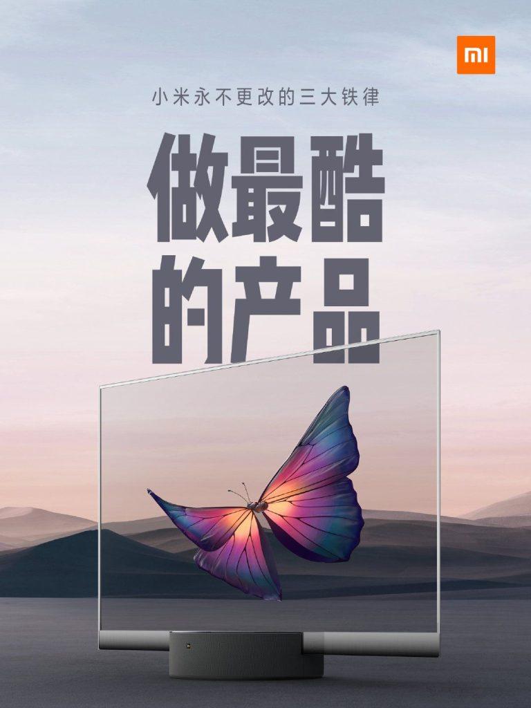 Xiaomi Mi TV LUX Transparent Edition ufficiale la prima TV con display Transparent OLED Darth News Side Alexa Reviews
