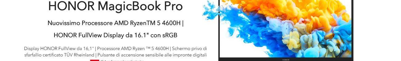 HONOR MagicBook Pro con AMD Ryzen 5 4600H disponibile in offerta in Italia