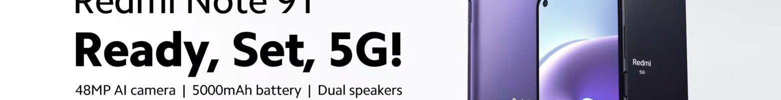 Redmi Note 9T 5G ufficiale: lo smartphone 5G dual SIM per tutti