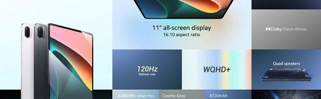 Xiaomi Pad 5 ufficiale: Xiaomi torna con stile nel mondo dei tablet