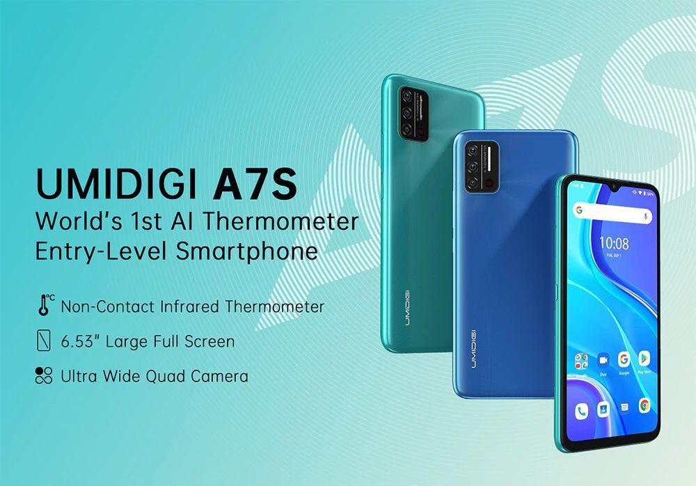 UMIDIGI A7S il primo smartphone con termometro a infrarossi